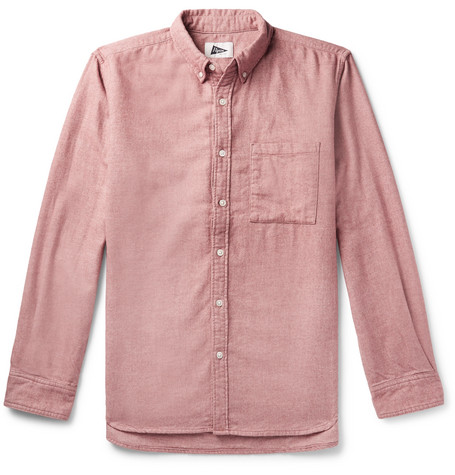 Fletcher Button Down Collar Cotton And Yak Blend Flannel Shirt by Pilgrim Surf + Supply