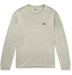 Pilgrim Surf + Supply - Logo-Print Mélange Wool-Jersey T-Shirt