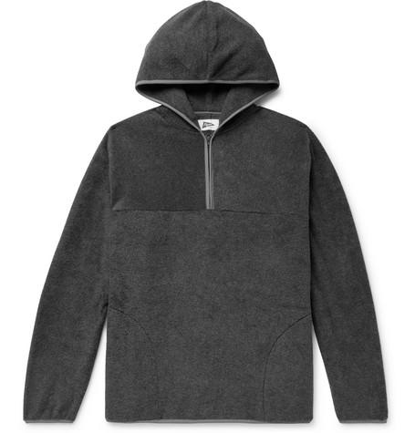 PILGRIM SURF + SUPPLY Fleece Half-Zip Hoodie in Charcoal