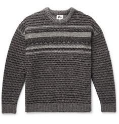 Slub Wool-jacquard Sweater - Gray