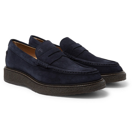 0c699099ca9 Tod s - Suede Penny Loafers