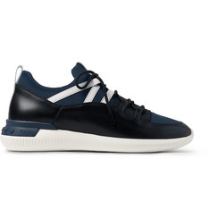 Tod's + No_Code Neoprene and Leather Sneakers