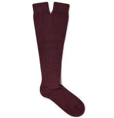 Loro Piana Stretch-Cashmere Over-the-Calf Socks