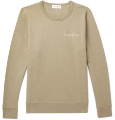 Maison Labiche Embroidered Fleece-Back Cotton-Jersey Sweatshirt