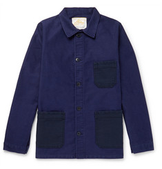 Le Mont Saint Michel Two-Tone Cotton-Moleskin Chore Jacket