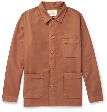 Cotton Moleskin Chore Jacket by Le Mont Saint Michel