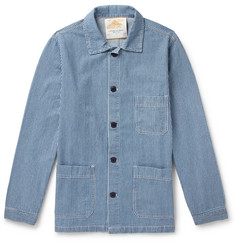 Le Mont Saint Michel Striped Denim Chore Jacket
