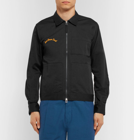 Embroidered Cotton Twill Jacket by Universal Works