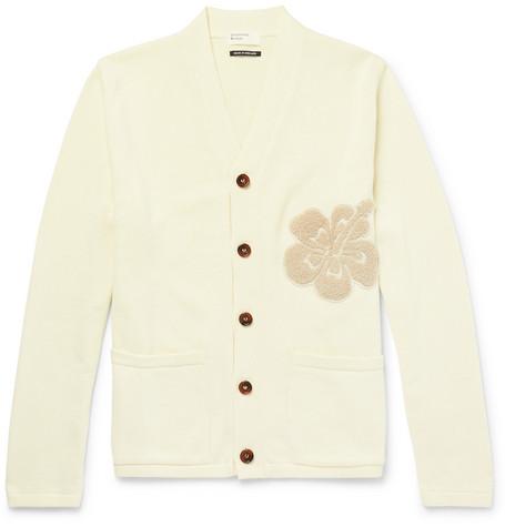 UNIVERSAL WORKS Appliquéd Cotton Cardigan