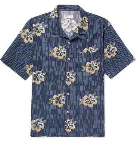 UNIVERSAL WORKS Camp-Collar Printed Cotton Shirt