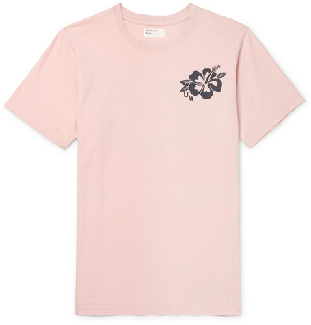 UNIVERSAL WORKS Printed Cotton-Jersey T-Shirt