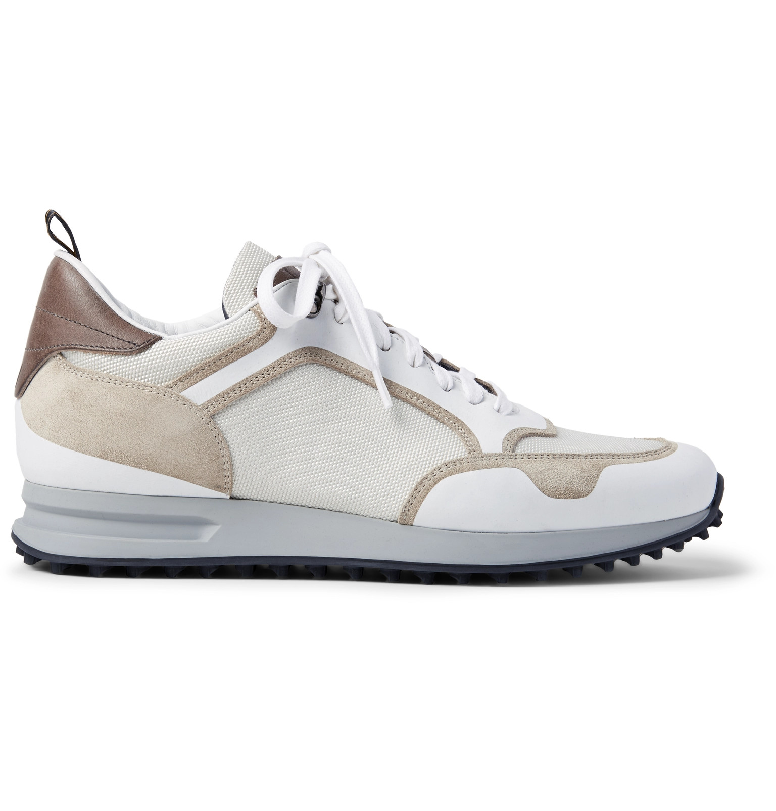 Mesh Sneakers and Radial Runner Suede Leather Trimmed Dunhill RY4w0R