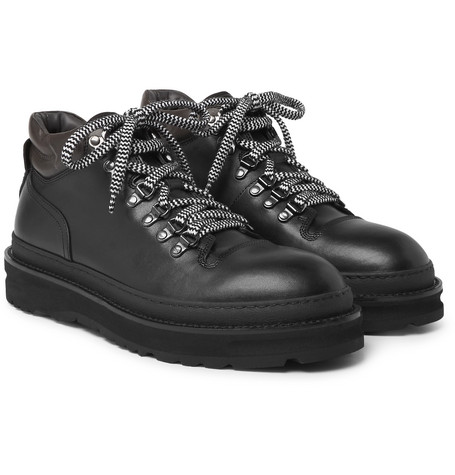 All Terrain Leather Hiking Boots, Black