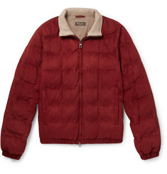 Loro Piana Quilted Suede Bomber Jacket