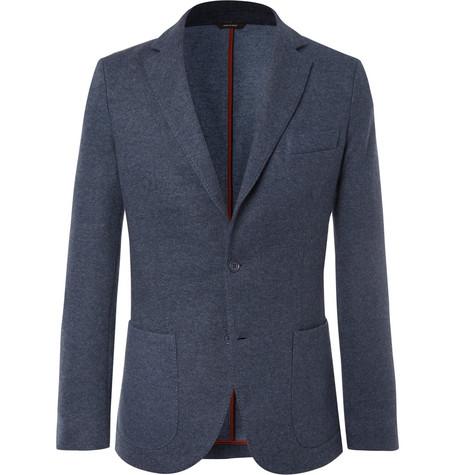 Loro Piana Blue Unstructured Cashmere-blend Blazer
