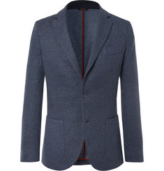 Loro Piana Blue Unstructured Cashmere-Blend Blazer