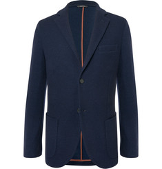Loro Piana - Navy Slim-Fit Unstructured Cashmere and Virgin Wool-Blend Blazer
