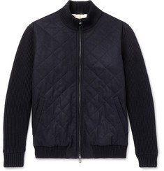 Loro Piana Ryan Panelled Cashmere Bomber Jacket