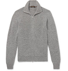 Loro Piana - Mélange Baby Cashmere Zip-Up Cardigan