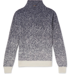 Loro Piana Dégradé Funnel-Neck Cashmere and Silk-Blend Sweater