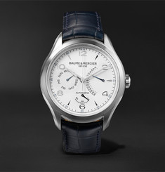 Baume & Mercier - Clifton Automatic 43mm Stainless Steel and Alligator Watch
