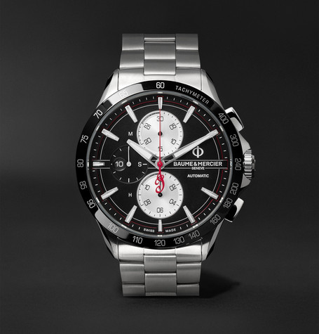 Clifton Club Indian Legend Tribute Chief Chronograph 44mm Stainless Steel Watch - Black