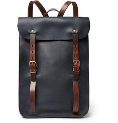 Bleu de Chauffe Full-Grain Leather Backpack