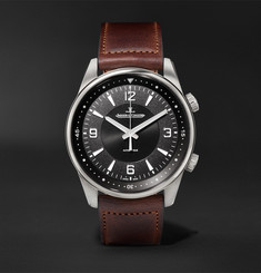 Jaeger-LeCoultre - Polaris Automatic Stainless Steel and Leather Watch