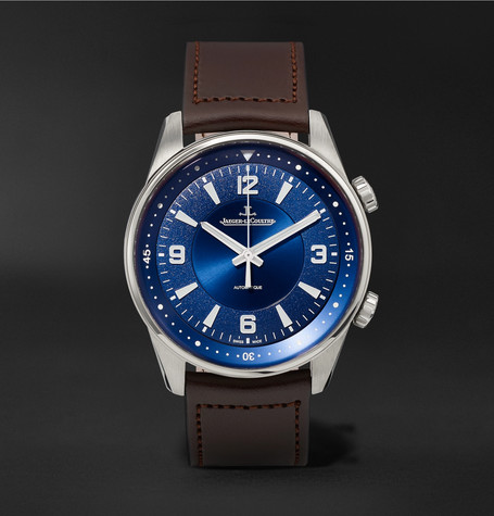 Polaris Automatic Stainless Steel And Leather Watch - Blue