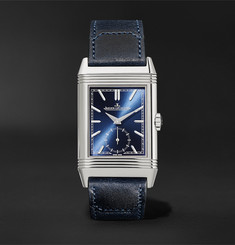 Jaeger-LeCoultre Reverso Tribute Hand-Wound 27mm Stainless Steel and Leather Watch