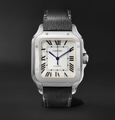 Cartier - Santos Automatic 35.6mm Interchangeable Stainless Steel and Leather Watch