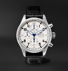 IWC SCHAFFHAUSEN Pilot's 150 Years Edition Chronograph 43mm Stainless Steel and Alligator Watch