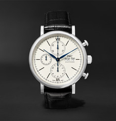 IWC SCHAFFHAUSEN - Portofino 150 Years Limited Edition Chronograph 42mm Stainless Steel and Alligator Watch