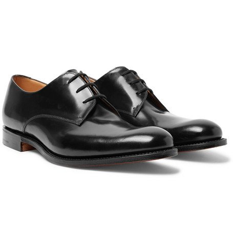 27e6edb5e2b67e Church s Oslo Polished-Leather Derby Shoes - Black