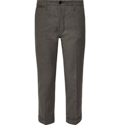 visvim - High-Water Slim-Fit Tapered Linen-Blend Trousers