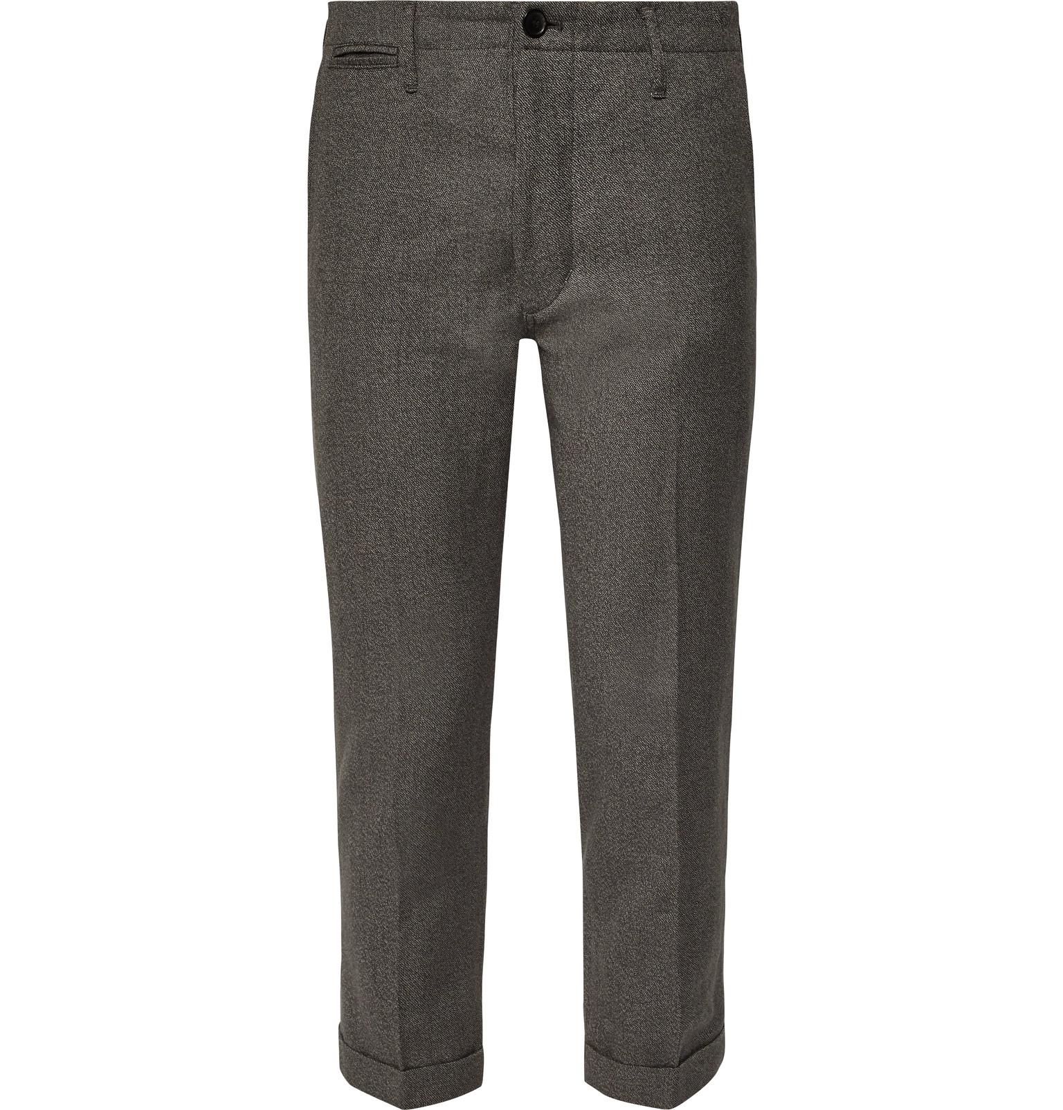 72af809f5d6 visvim - High-Water Slim-Fit Tapered Linen-Blend Trousers