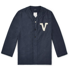 visvim - Dugout Logo-Appliqued Pinstriped Denim Shirt
