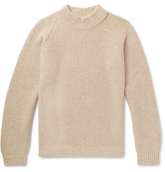 visvim Funnel-Neck Ribbed Wool Sweater