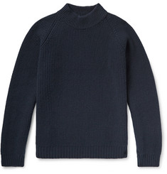 visvim Mock-Neck Ribbed Wool Sweater