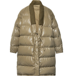 visvim Yukata Oversized Wool-Trimmed Quilted Nylon Down Coat