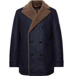 Tod's - Double-Breasted Shearling-Trimmed Wool and Cashmere-Blend Peacoat