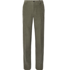 Tod's Green Slim-Fit Cotton-Moleskin Suit Trousers