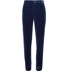 Tod's Royal-Blue Slim-Fit Cotton-Velvet Suit Trousers