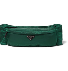 Prada Leather-Trimmed Nylon Belt Bag