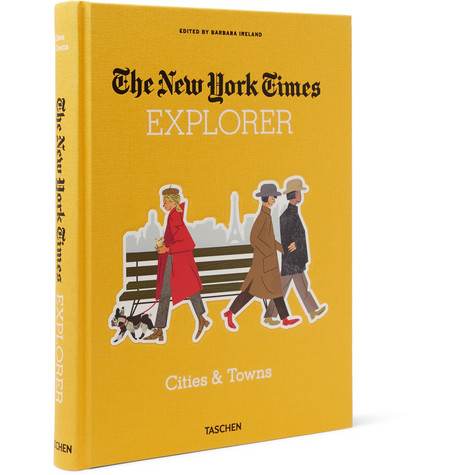 TASCHEN The New York Times Explorer: Cities And Towns Hardcover Book in Yellow
