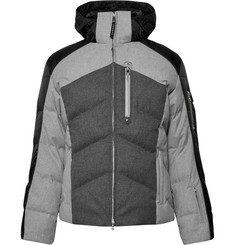 Bogner - Evan Quilted Flannel Hooded Down Ski Jacket