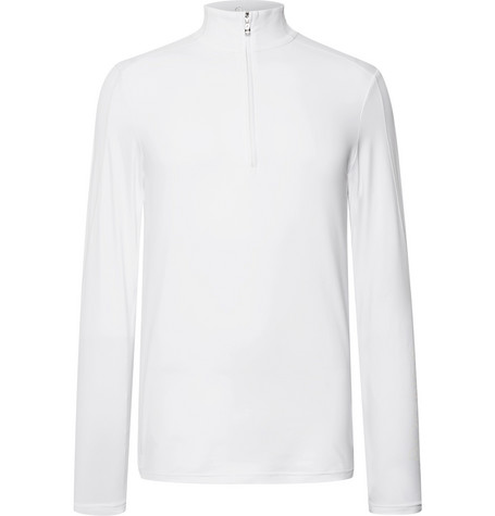 Harrison Slim Fit Stretch Jersey Half Zip Base Layer by Bogner