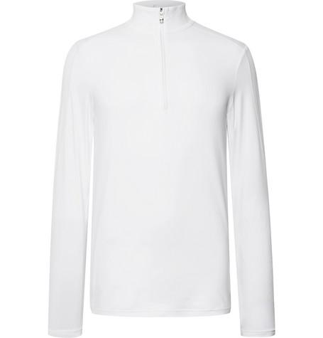Harrison Slim Fit Stretch Jersey Half Zip Base Layer by Bogner