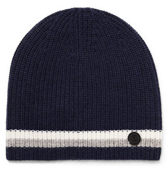 Bogner - Matteo Striped Ribbed Cashmere Beanie