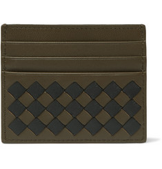 Bottega Veneta - Two-Tone Intrecciato Leather Cardholder